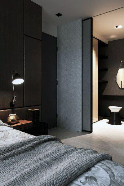 Top 50 besten schwarzen Schlafzimmer Design-Ideen - dunkle Innenwände