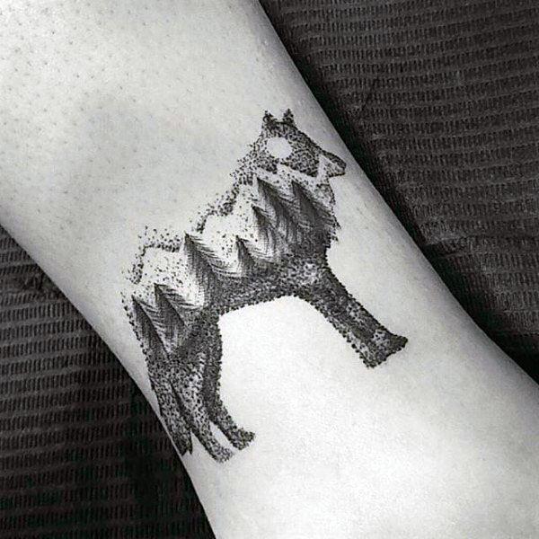 100 Pointillismus Tattoo-Designs für Männer - moderne Dot Ideen