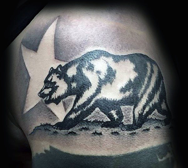 80 California Bear Tattoo Designs für Männer - Grizzly Ink Ideen