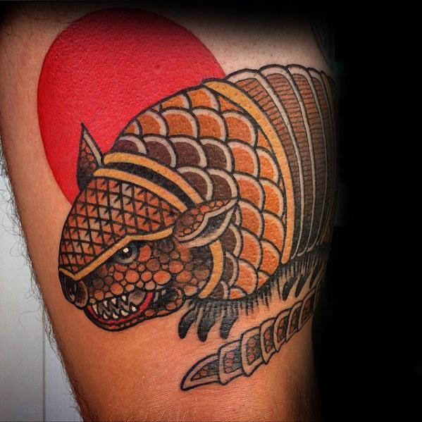 50 Armadillo Tattoo Designs für Männer - Armor Shell Ink Ideen