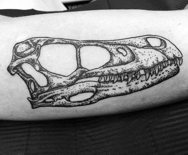 50 Velociraptor Tattoo Designs für Männer - Dinosaurier-Tinten-Ideen