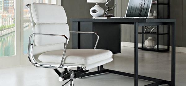 Moderner Leder Bürostuhl Lexington