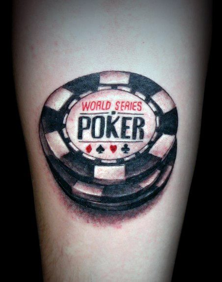 40 Poker Chip Tattoo Designs für Männer - Maskulin Tinte Ideen