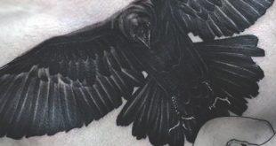 100 Raven Tattoo Designs für Männer - Scavenge Sooty Bird Ink