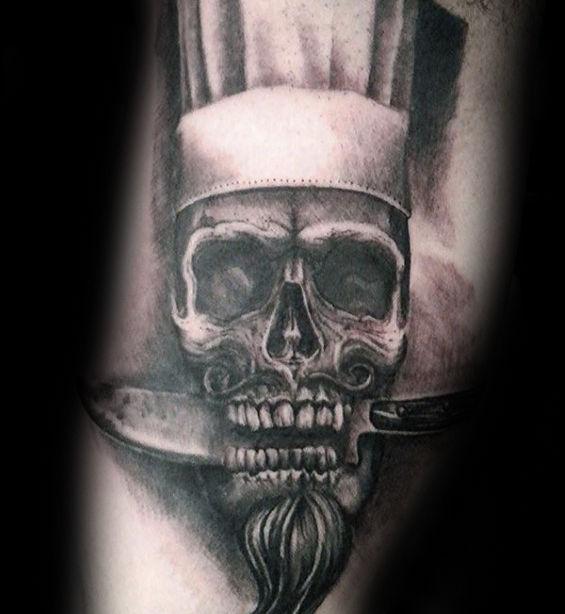 60 Kochmesser Tattoo Designs für Männer - Cook Ink Ideen