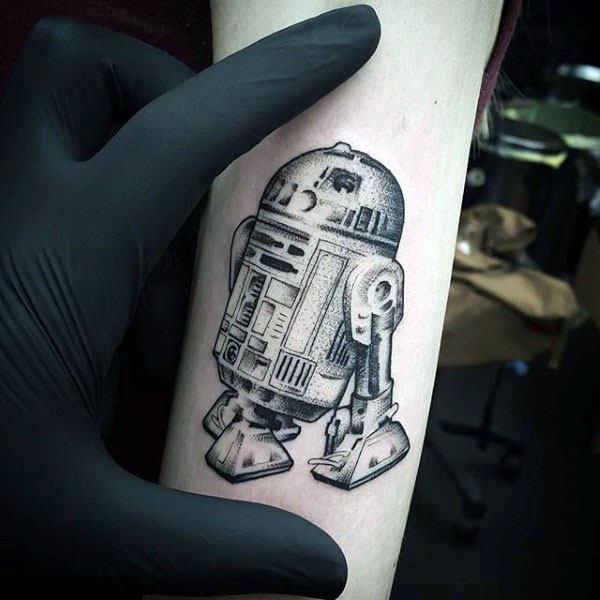 60 R2D2 Tattoo Designs für Männer - Roboter Star Wars Tinte
