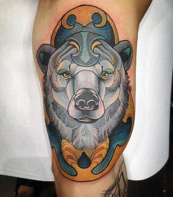 60 Eisbär Tattoo Designs für Männer - Arctic Ink Ideen