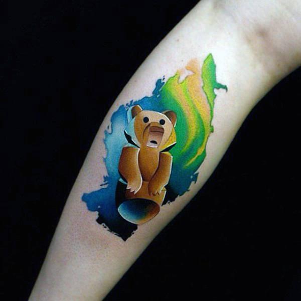 100 Aquarell Tattoo Designs für Männer - Cool Ink Ideas