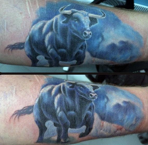 75 Stier Tattoos für Männer - Zodiac Ink Design-Ideen