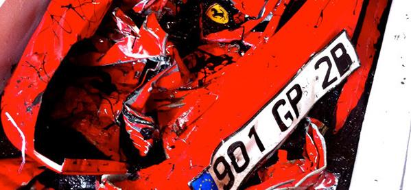 Ruinierter Ferrari-Couchtisch für das Wohnzimmer und den Junggesellen-Auflage