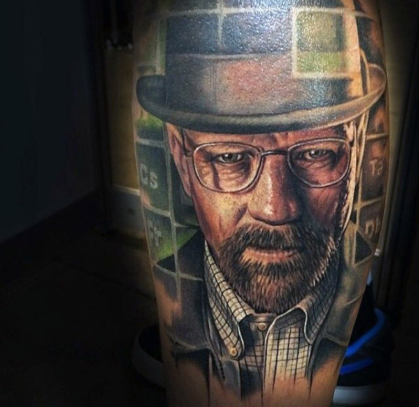 50 Breaking Bad Tattoo Designs für Männer - Walter White Ink Ideen