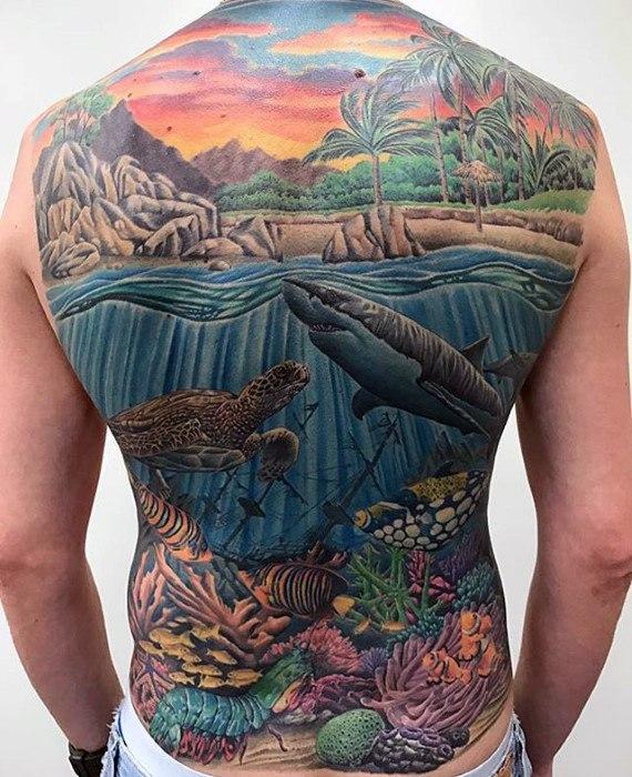 40 einzigartige Rücken Tattoos für Männer - Manly Body Art Design-Ideen