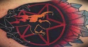 50 Pentagramm Tattoo-Designs für Männer - fünf Spitzen Star Ideen