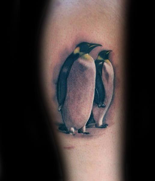 50 Pinguin-Tätowierungs-Entwürfe für Männer - Wasservogel-Tinten-Ideen