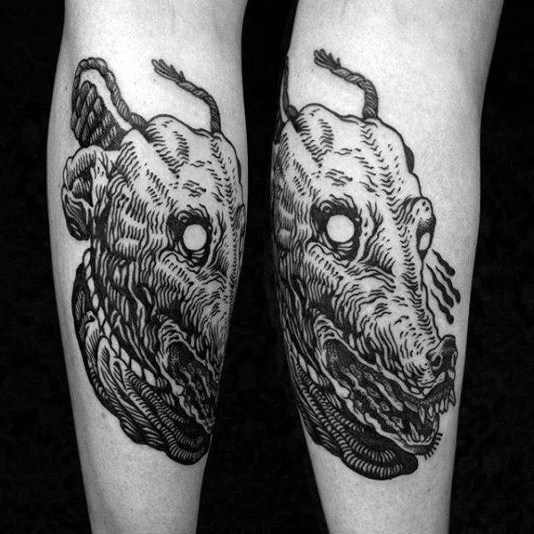 40 Greyhound Tattoo Designs für Männer - Hund Tinte Ideen