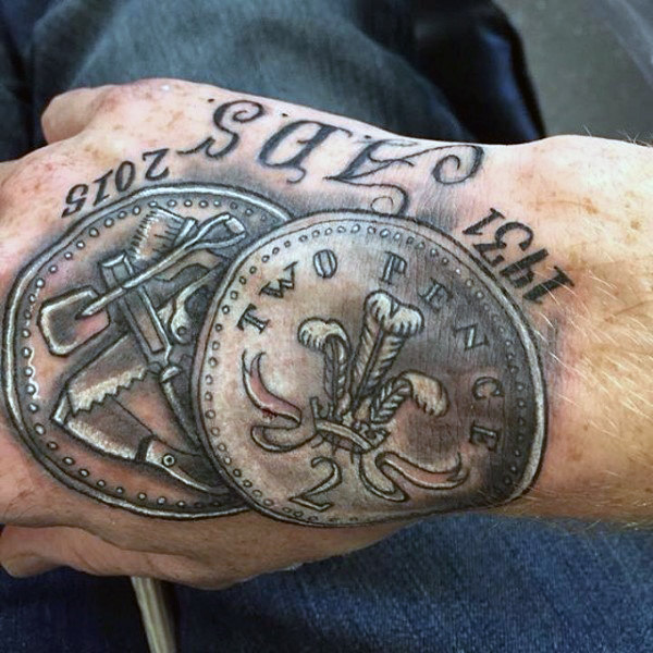 50 Geld Tattoos für Männer - eine Fülle von maskulinen Design-Ideen
