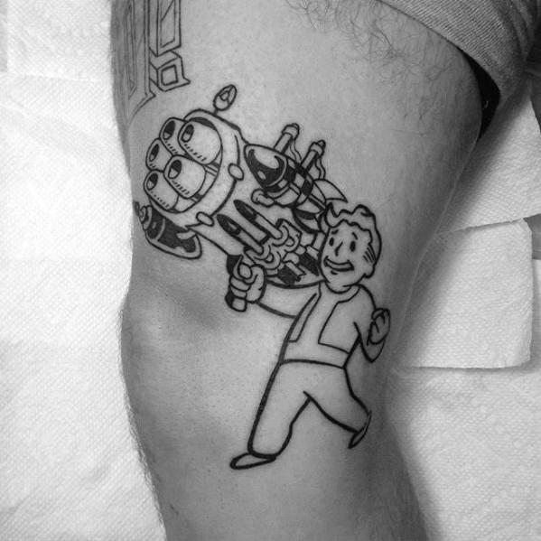 60 Vault Boy Tattoo Designs für Männer - Fallout Ink Ideen