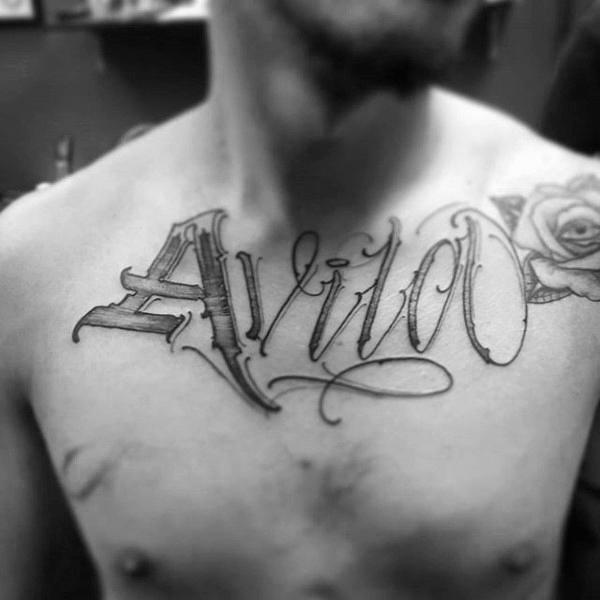 Namen Tattoo Mann