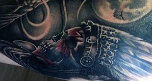 80 Indian Skull Tattoo Designs für Männer - Cool Ink Ideas