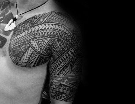 50 polynesischen Shark Tattoo Designs für Männer - Tribal Ink Ideen