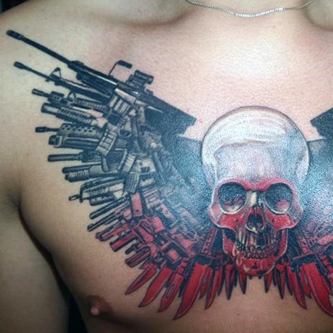 30 Expendables Tattoo Designs für Männer - Manly Ink Ideen