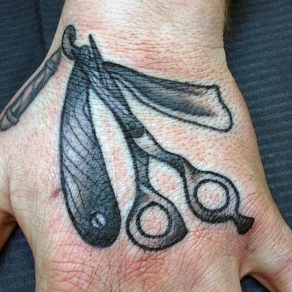100 Barber Tattoos für Männer - Maskulin Design-Ideen