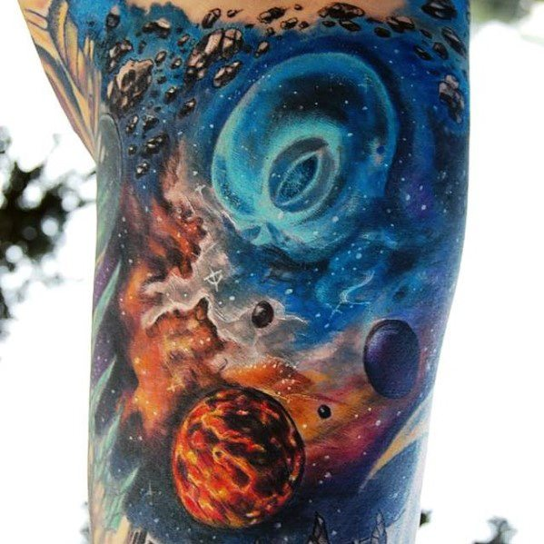 50 Himmlische Tattoos für Männer - Himmlische Design-Ideen