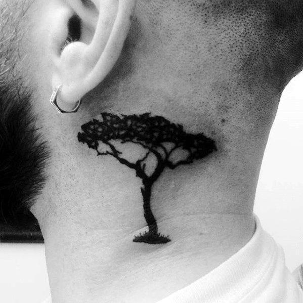 40 kleine Hals Tattoos für Männer - Masculine Ink Design-Ideen