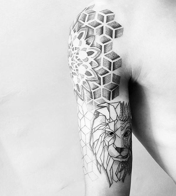 90 Origami Tattoo Designs für Männer - Gefaltete Papiertinte Ideen