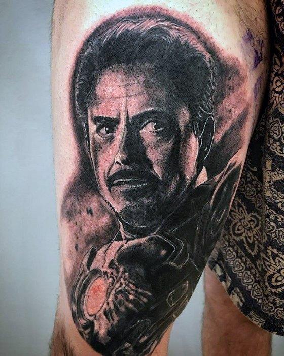 70 Iron Man Tattoo Designs für Männer - Tony Stark Ink Ideen