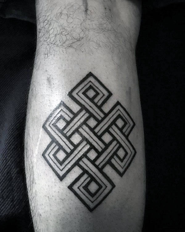 50 Endless Knot Tattoo Designs für Männer - Eternal Ink Ideen