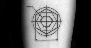 30 Engineering Tattoo Designs für Männer - mechanische Tinte Ideen