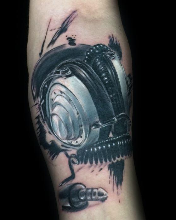 Kopfhörer Tattoo
