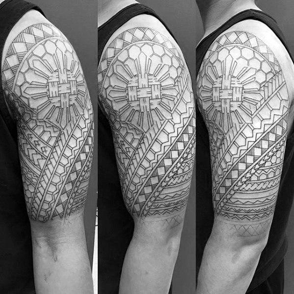 50 Filipino Sun Tattoo Designs für Männer - Tribal Ink Ideen