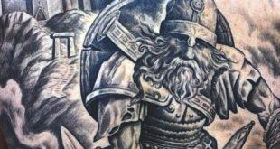 70 Viking Tattoos für Männer - Manly Germanic Norse Seafarer Designs