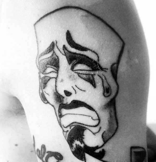 60 Drama Maske Tattoo Designs für Männer - Theater Ink Ideas