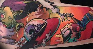 70 Calvin und Hobbes Tattoo-Designs für Männer - Comic-Ideen
