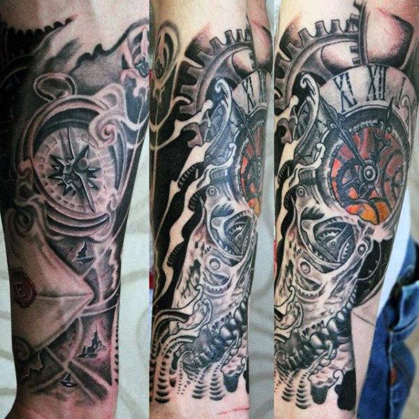 80 Uhr Tattoo Designs für Männer - Timeless Ink Ideas