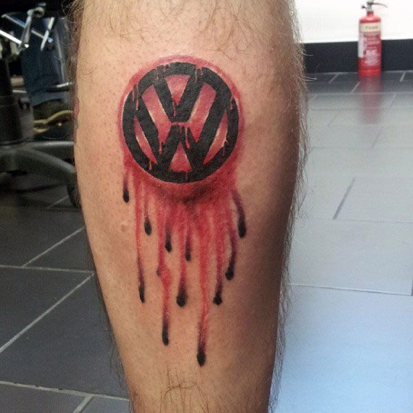 50 Volkswagen VW Tattoos für Männer - Automotive Design-Ideen