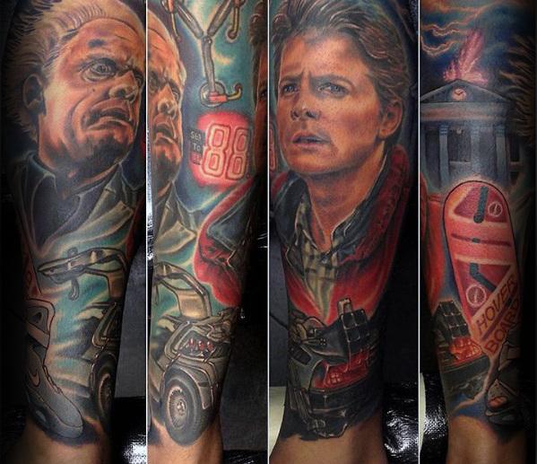 50 Zurück in die Zukunft Tattoo-Designs für Männer - Sci-Fi-Tinte Ideen