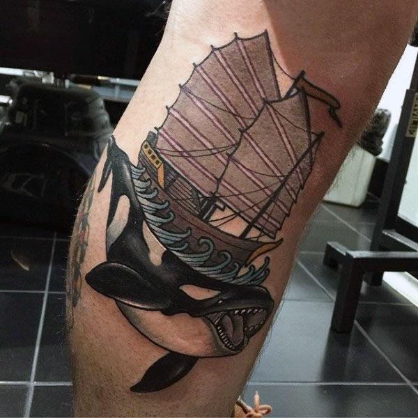 100 Wal Tattoo Designs für Männer - Coole Behemoths des Meeres