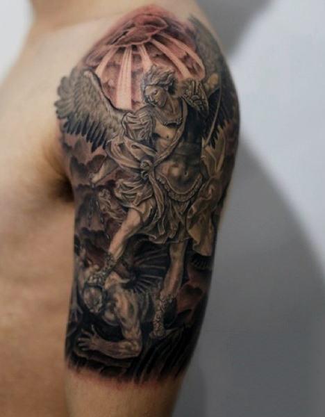 75 St. Michael Tattoo-Designs für Männer - Der Erzengel und Prinz