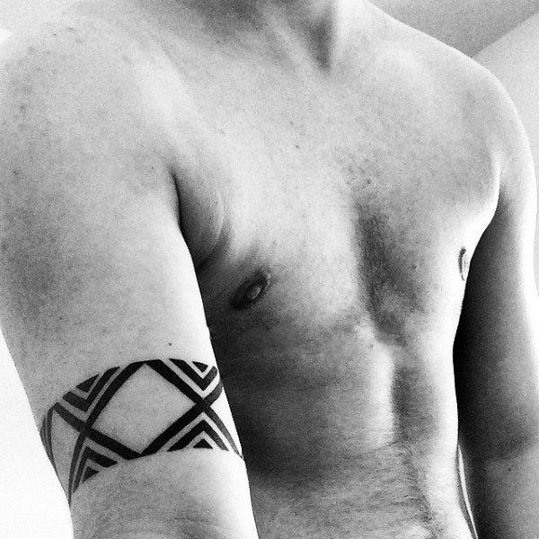 70 Armband Tattoo Designs für Männer - Tragen Sie Ihr Herz auf Ihrem Ärmel