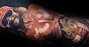 60 Wrestling Tattoos für Männer - WWE Design-Ideen