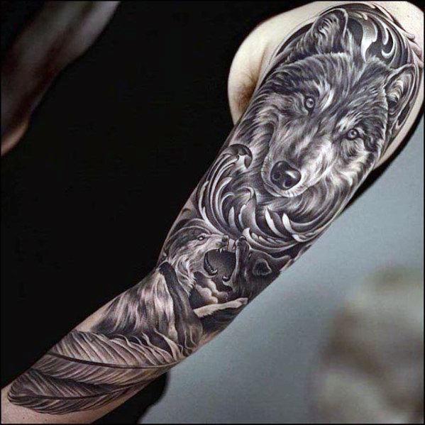 60 Super Sleeve Tattoos für Männer - Maskuline Design-Ideen