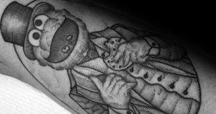 30 Krümel Monster Tattoo Designs für Männer - Muppet Ink Ideen