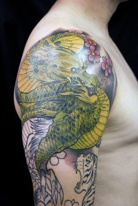 40 Tiger Dragon Tattoo Designs Fur Manner Manly Ink Ideen Mann