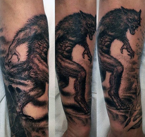 80 Werwolf Tattoo-Designs für Männer - Vollmond Folklore