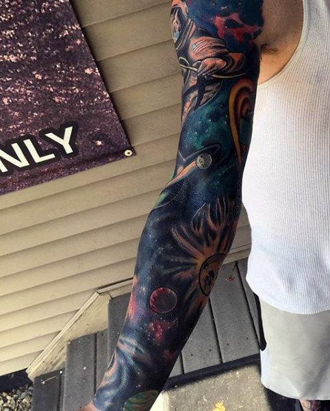 40 Sterne Tattoos für Männer - leuchtende Inspiration und Design-Ideen