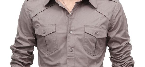 Doublju Herren Casual Shoulder Shirts